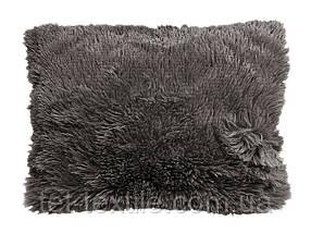 Наволочка с длинным ворсом темно-серая (50х70)