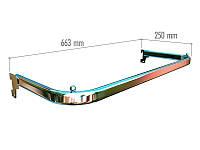 Дуга (штанга) тип U в хромі шириною 663мм глубиною 250мм в рейку європейського торгового обладнання