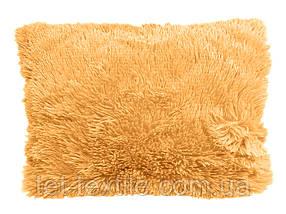 Наволочка с длинным ворсом ярко-персиковая (50х70)