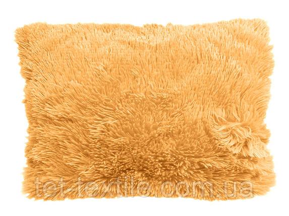 Наволочка с длинным ворсом ярко-персиковая (50х70), фото 2