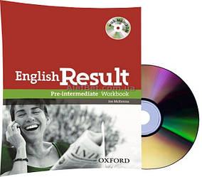 Английский язык / English Result / Workbook+CD. Тетрадь к учебнику с диском, Pre-Intermediate / Oxford