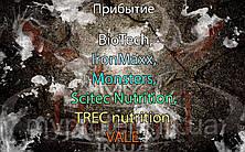 Поступление: BioTech, IronMaxx, Monsters, Scitec Nutrition, TREC nutrition, VALE.