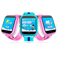 Детские смарт часы Q100S/Q750 умные часы, детские часы с gps. Цвета в ассортименте