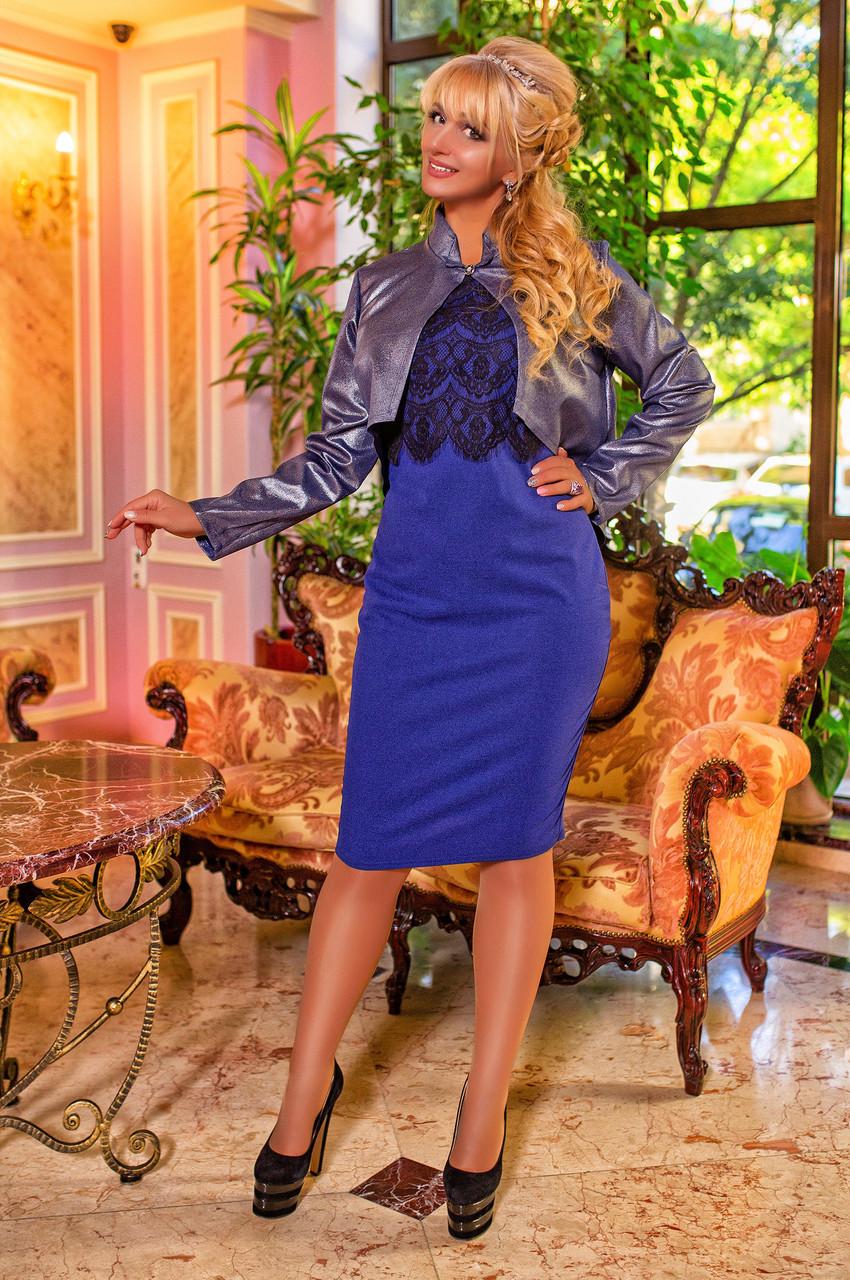 6e92feb9bb76a Костюм платье с болеро синий - Одежда для настоящих модниц в Харькове
