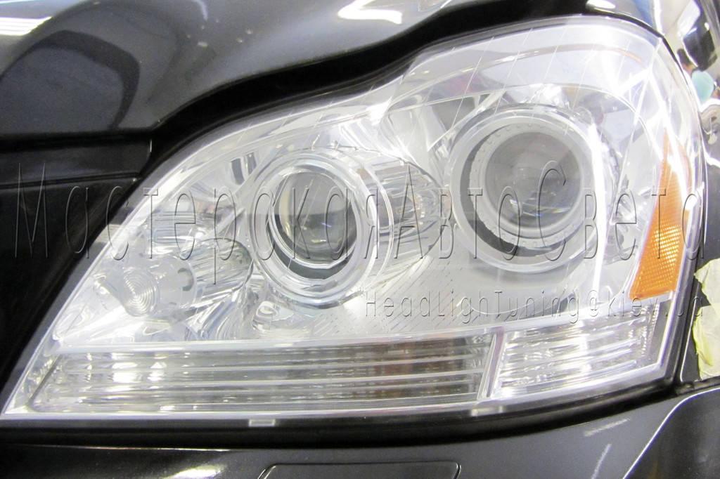 Mercedes-Benz GL 450 (X164) - инсталляция квадро Bi-Led линз Подробнее: https://headlightuning.kiev.ua/p808874974-mercedes-benz-450.html