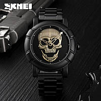 Мужские наручные часы Skmei 9178 Skull в стиле Philipp Plein, фото 1