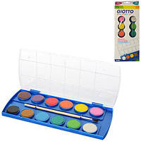 Краски Z0192 (144шт) акварельные, 12цветов, кисточка, в кор-ке, 11-28-2см