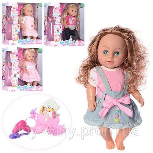 Кукла 317012-18-A19-C15-D4 (6шт) 42см,зв(рус),пьет-писяет,каш3шт,горш,фен,тарелк,4в,кор,40-41,5-15см