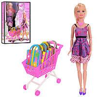 Кукла 68083 (48шт) шарнирная, 30см, тележка, пакетики 5шт, в кор-ке, 21,5-33,5-6см