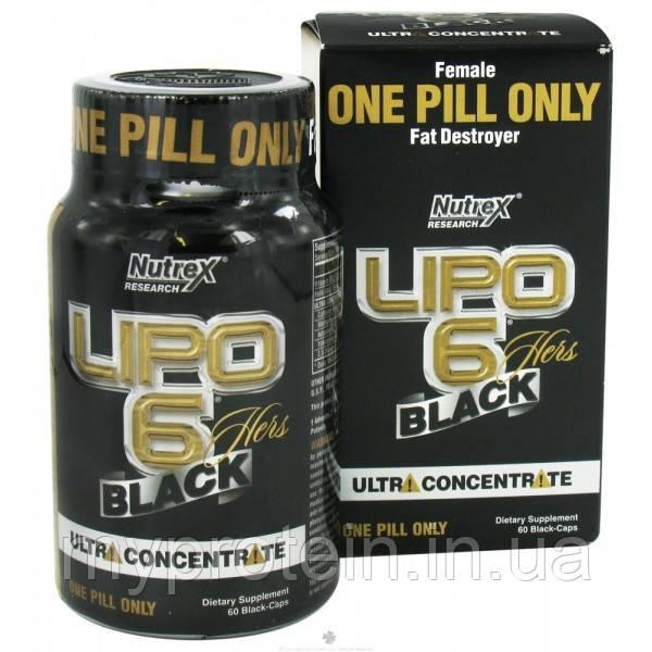 Nutrex Жиросжигатель Липо 6 блек Lipo 6 Black Hers Ultra concentrate with geranium (60 caps)