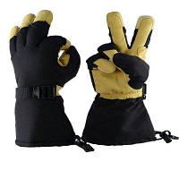 Озеро -40 град.Ф зима холодной доказательство катание на лыжах перчатки для мужчин и женщин - Кукуруза-желтый