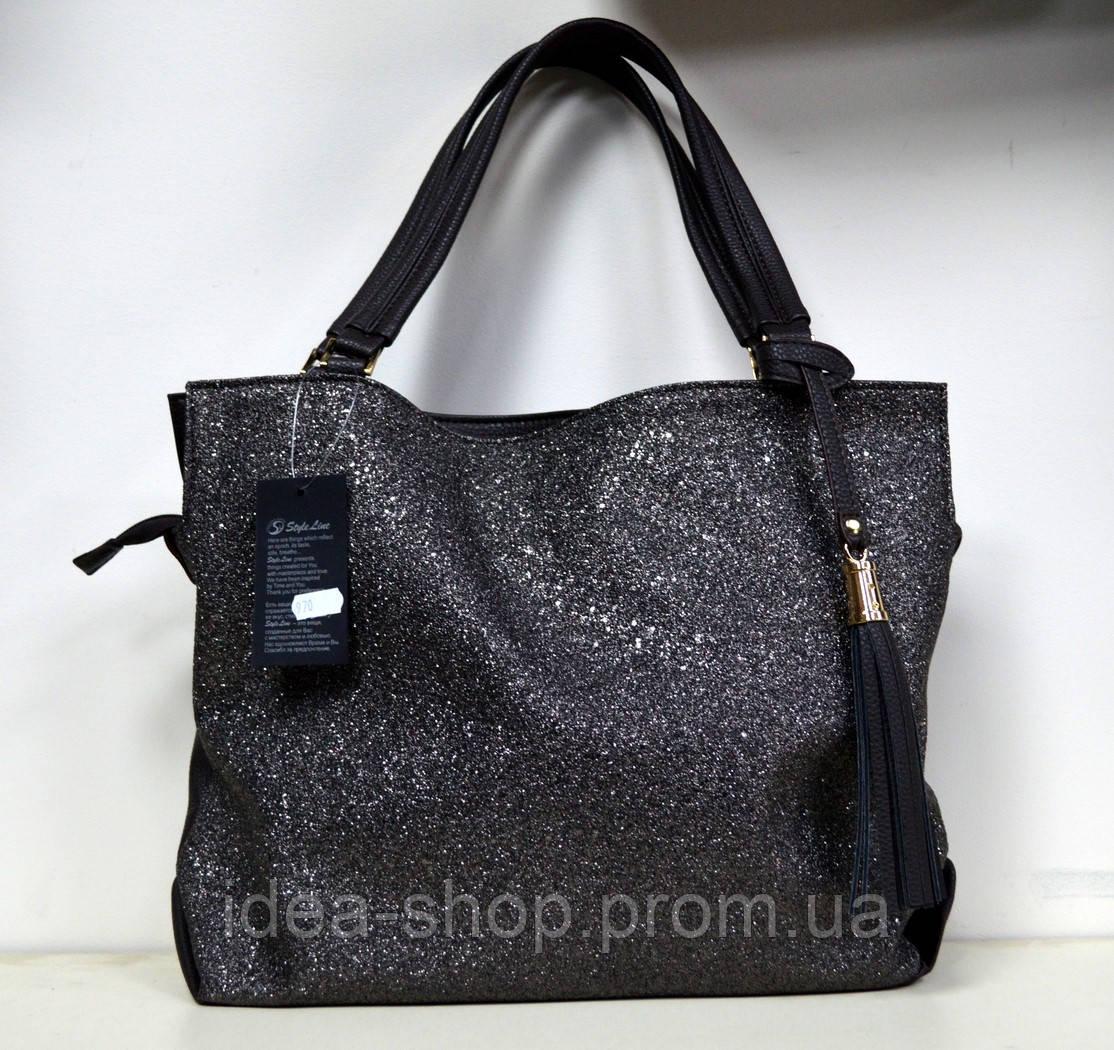 f71e06fe8580 Сумка большая женская коричневая через плечо стильный принт -  интернет-магазин