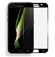 Защитное стекло 3D Full Cover для Samsung A7 (2017) SM-A720 Black (Screen Protector 0,3 мм)