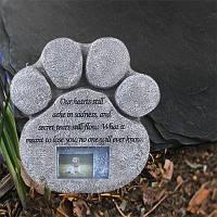 Собачий надгробный памятник - Светлый-шифер серый