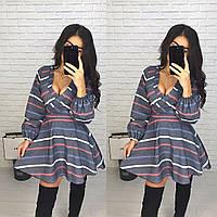 Приталенное платье с пышной юбкой К 77, фото 1