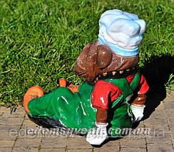 Садовая фигура кашпо Пес у миски, фото 3
