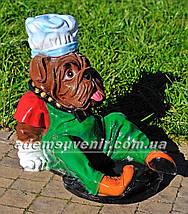 Садовая фигура кашпо Пес у миски, фото 2