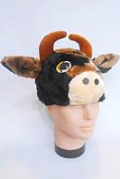 Шапочка Бык для детей, шапка для костюма Теленок, Корова, Телочка, Бычок, Коровка