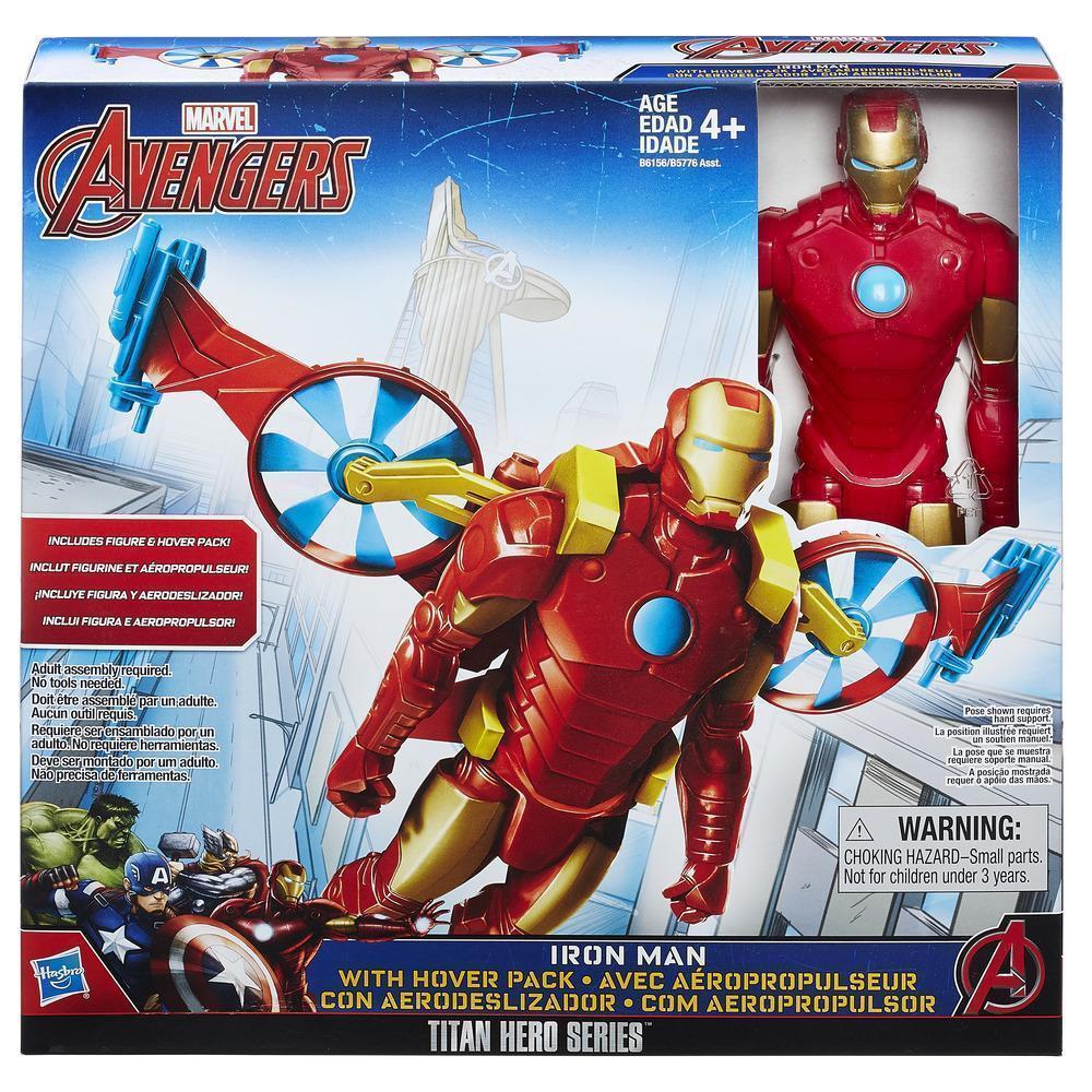 Железный человек с «крыльями». Marvel Titan Hero Series Iron Man With Hover Pack, оригинал из США