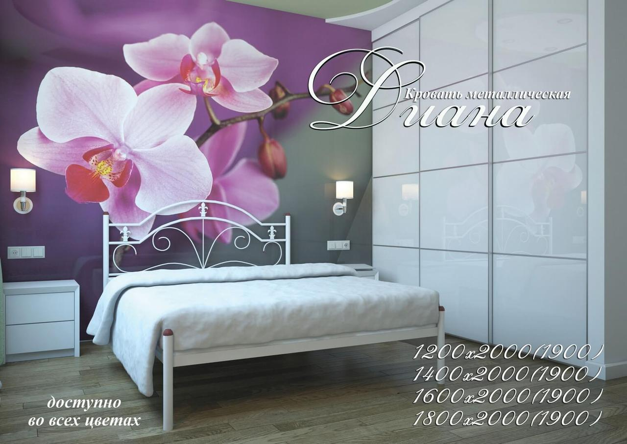 Металлическая кровать Диана ТМ «Металл-Дизайн»