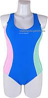 Cлитный подростковый купальник борцовка Atlantic beach 695001-1 голубой