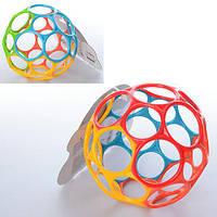Мяч 3701 (72шт) детский, 2цвета, 11,5-11,5-11,5см