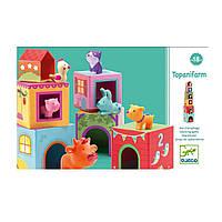 Игра Топанимо - ферма из 6 кубиков+6 животных DJ09108 ТМ: Djeco