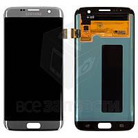 Samsung G935W8 Galaxy S7 Edge,Оригинал,Дисплейный модуль для мобильного телефона,серебристый