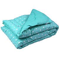 "Шерстяное одеяло Руно™  ""02ШУ Mint"" 200х220см Особо теплое в Бязи, фото 1"
