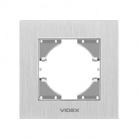 VIDEX BINERA Рамка серебристый алюминий одинарная горизонтальная (VF-BNFRA1H-SL) (13/156)