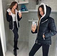 Женская зимняя теплая куртка на синтепоне 42-54 норма и батал