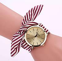 Стильные женские наручные часы на ленте «Style time» (красный)