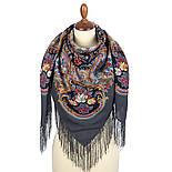 Песнь уходящего лета 1827-1, павлопосадский платок шерстяной с шелковой бахромой, фото 2