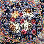 Песнь уходящего лета 1827-1, павлопосадский платок шерстяной с шелковой бахромой, фото 3