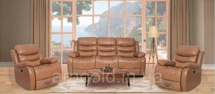 Мягкая мебель Брюс кожа кремовый
