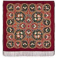 Песнь уходящего лета 1827-6, павлопосадский платок шерстяной с шелковой бахромой, фото 1