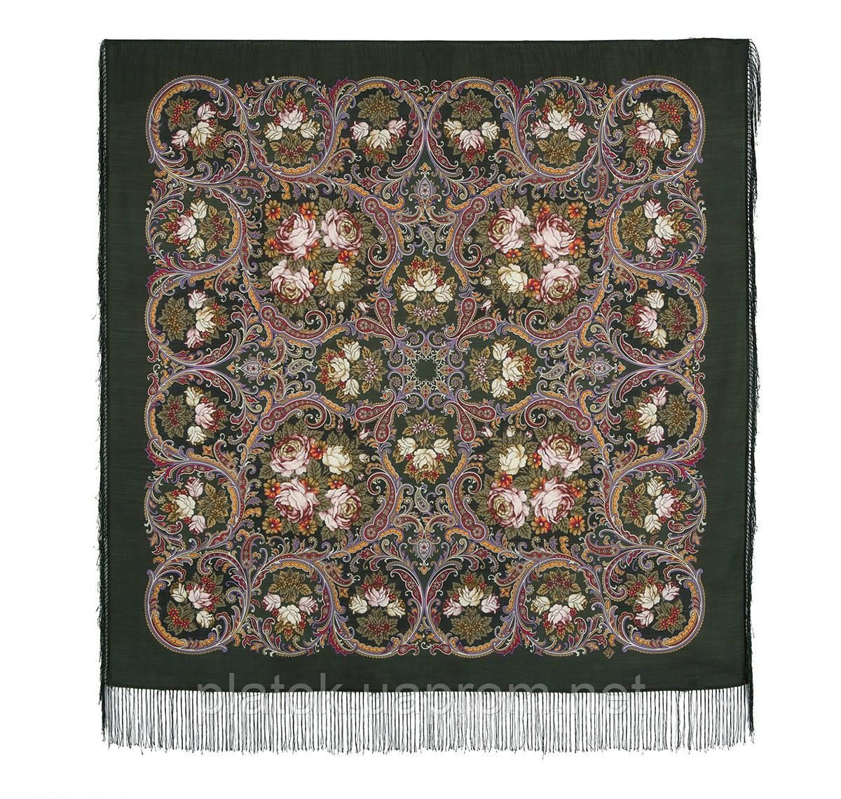 Песнь уходящего лета 1827-10, павлопосадский платок шерстяной с шелковой бахромой