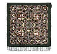 Песнь уходящего лета 1827-10, павлопосадский платок шерстяной с шелковой бахромой, фото 1
