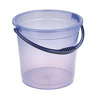 Ведро прозрачное пластиковое без крышки 12 л