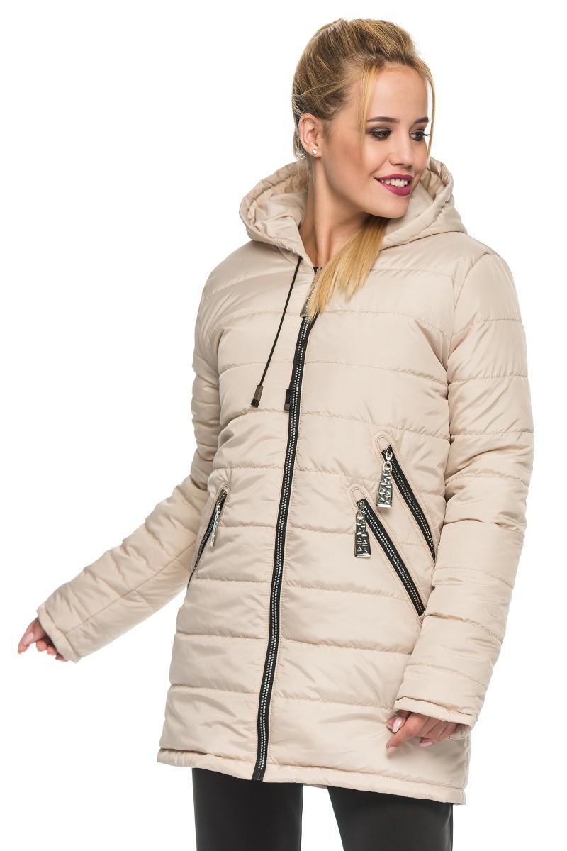 4ef5f277 Зимняя женская куртка-парка с тремя прорезными карманами, размеры 44-52  (разные