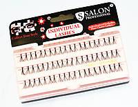 Ресницы Salon Professional пучки Long Black (длинные)