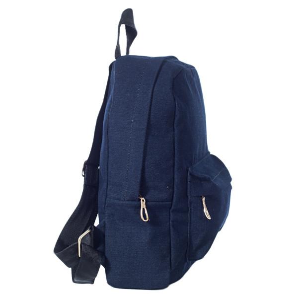 Стильный женский джинсовый рюкзак Mayers, темно-синий однотонный, фото 2