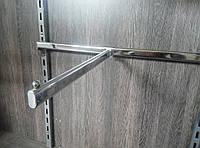 Кронштейн флейта пряма 400мм на перемичку європейського торгового обладнання