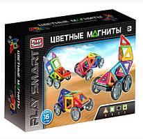 """Магнитный конструктор Play Smart 2426 """"Цветные магниты"""", 16 дет."""