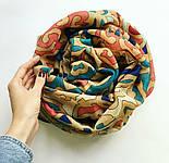 Палантин шерстяной 10677-1, павлопосадский шарф-палантин шерстяной (разреженная шерсть) с осыпкой, фото 4