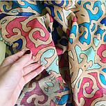 Палантин шерстяной 10677-1, павлопосадский шарф-палантин шерстяной (разреженная шерсть) с осыпкой, фото 5