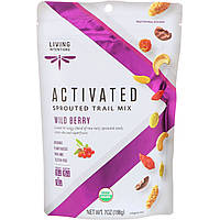 Living Intentions, Activated, Sprouted Trail Mix, Wild Berry, 7 oz (198 g)