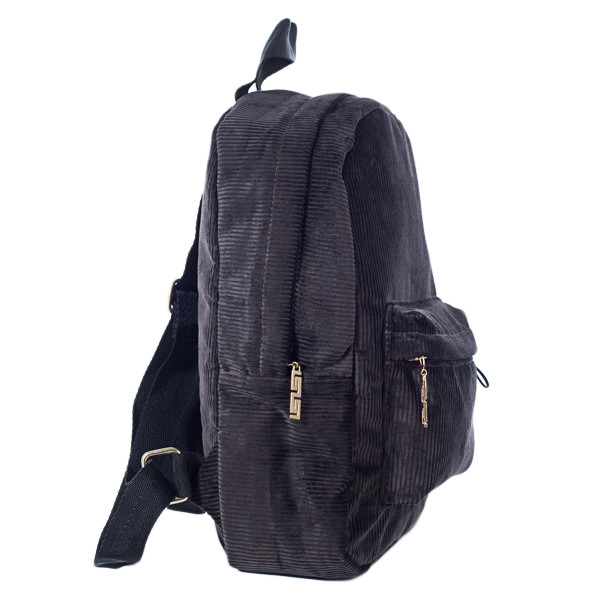 Городской женский вельветовый рюкзак Mayers, шоколадный, фото 2