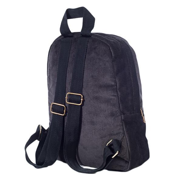 Городской женский вельветовый рюкзак Mayers, шоколадный, фото 3
