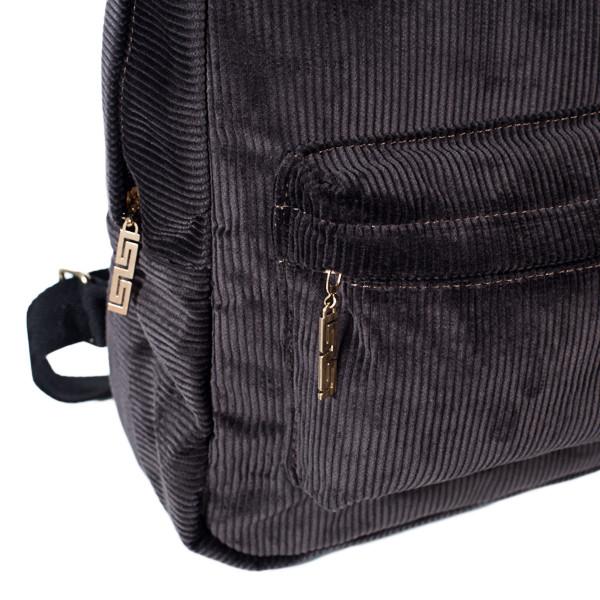 Городской женский вельветовый рюкзак Mayers, шоколадный, фото 5